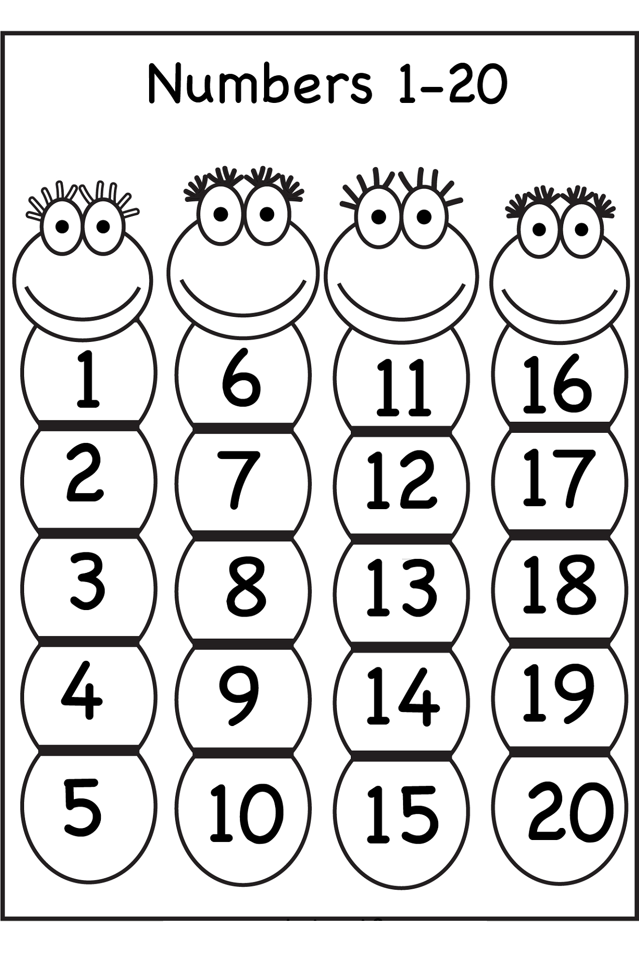 Trace Number 1-20 Worksheets | Activity Shelter | Free Printable Tracing Numbers 1 20 Worksheets