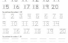 Trace Numbers 1 20 | Kiddo Shelter | Numbers Printable Worksheets
