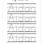 Trace Your Name Worksheet Printable Kiddo Shelter | Best Worksheet | Printable Name Worksheets