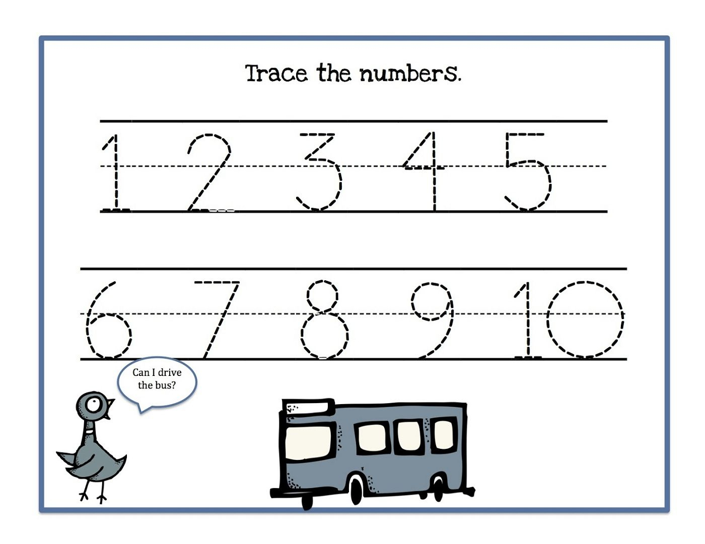 Traceable Numbers 1-10 Worksheets To Print | Kids Worksheets | Printable Worksheets For Preschoolers On Numbers 1 10