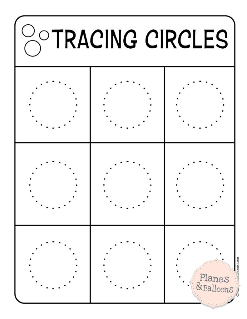 Tracing Circles Worksheets To Build A Solid Writing Skills | Circle Printable Worksheets