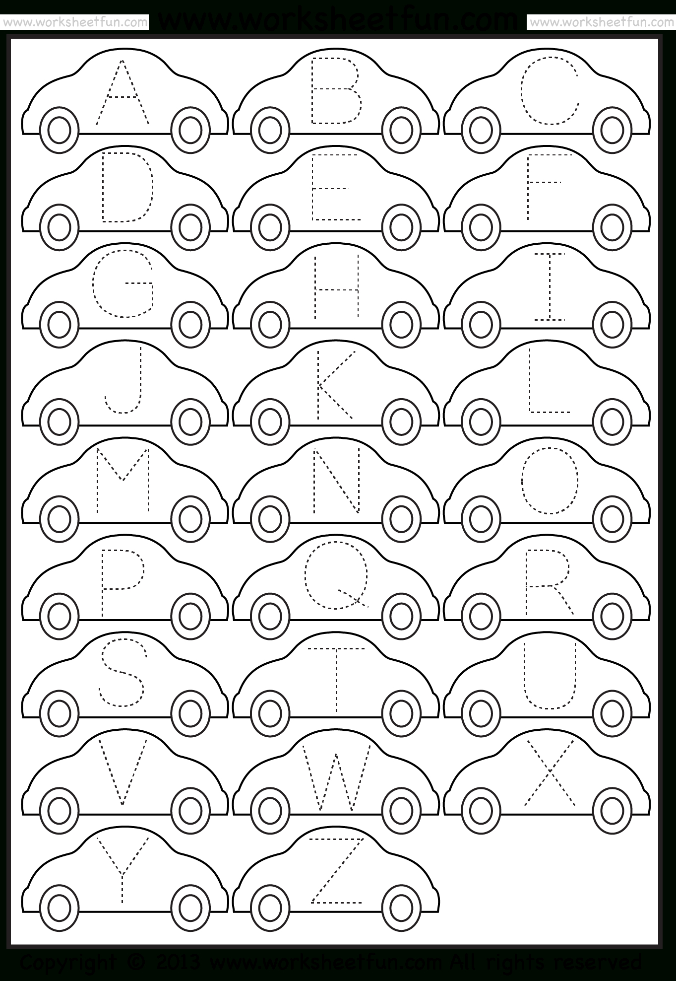 Tracing – Letter Tracing / Free Printable Worksheets – Worksheetfun | Printable Tracing Worksheets