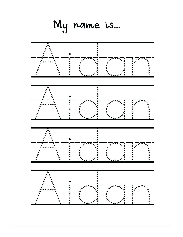 Tracing Name Sheets Handwriting Worksheetsseason Tracing Sheets | Free Printable Name Tracing Worksheets For Preschoolers