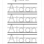 Tracing Name Worksheets   Koran.sticken.co | Free Printable Write Your Name Worksheets