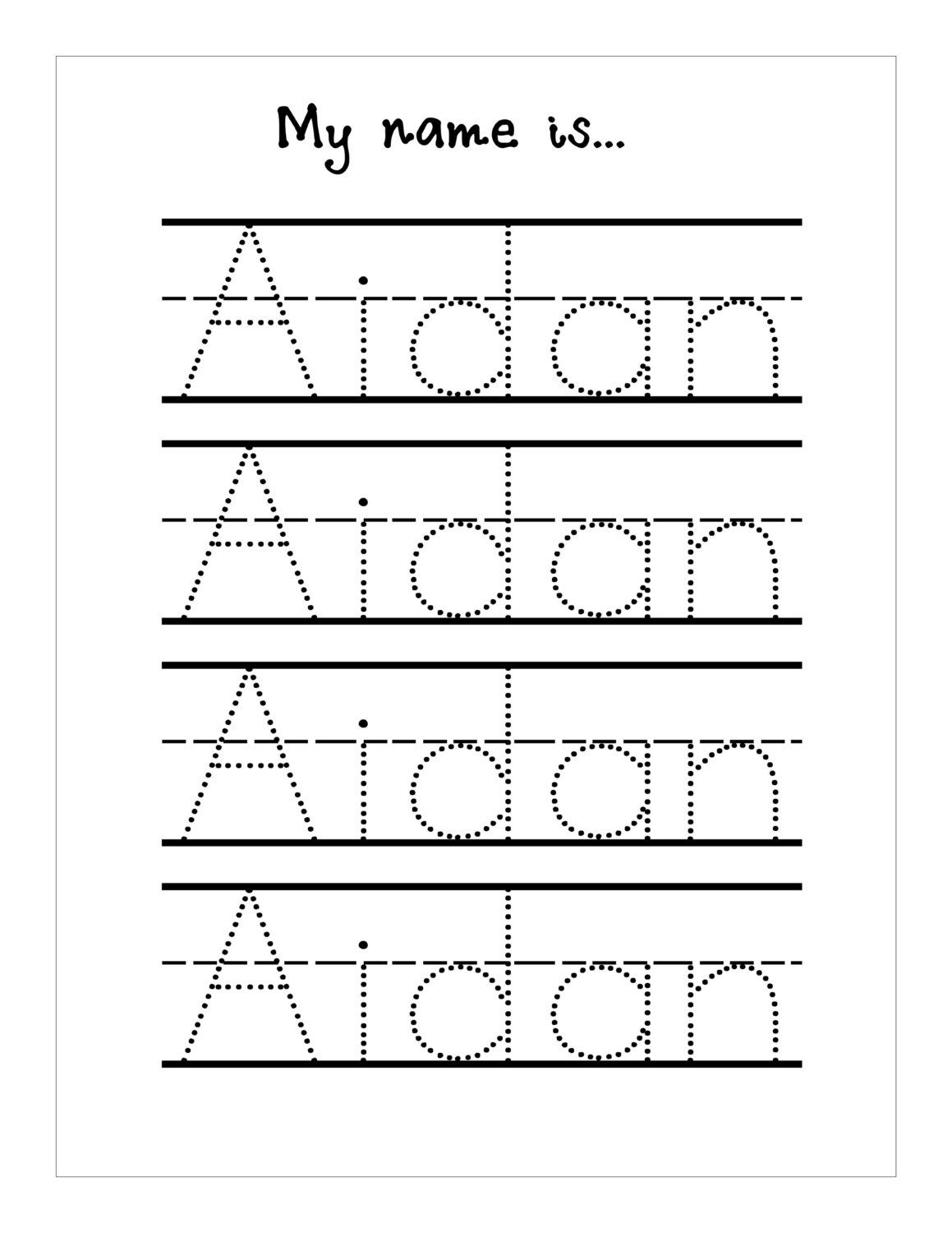 Tracing Name Worksheets - Koran.sticken.co | Free Printable Write Your Name Worksheets