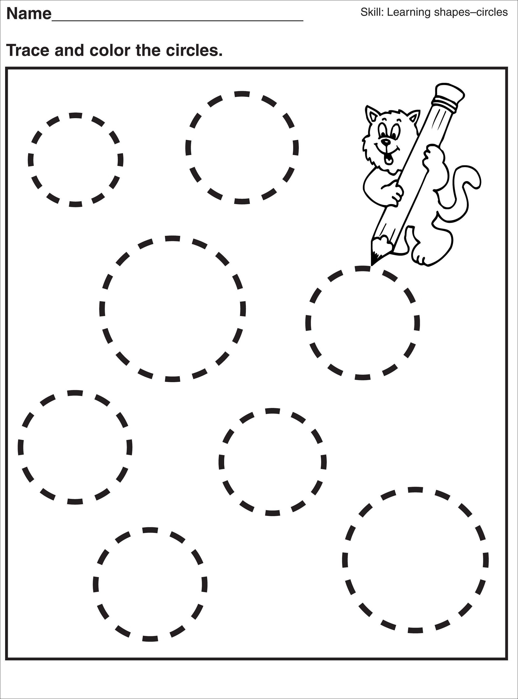 Tracing Pages For Preschool | Kids Worksheets Printable | Shapes | Circle Printable Worksheets
