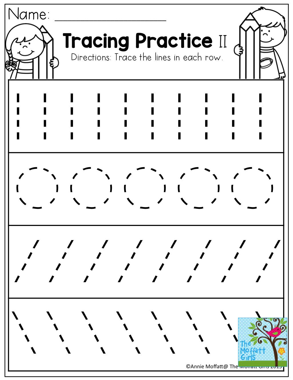 Tracing Practice! Tons Of Printable For Pre-K, Kindergarten, 1St | Printable Tracing Worksheets