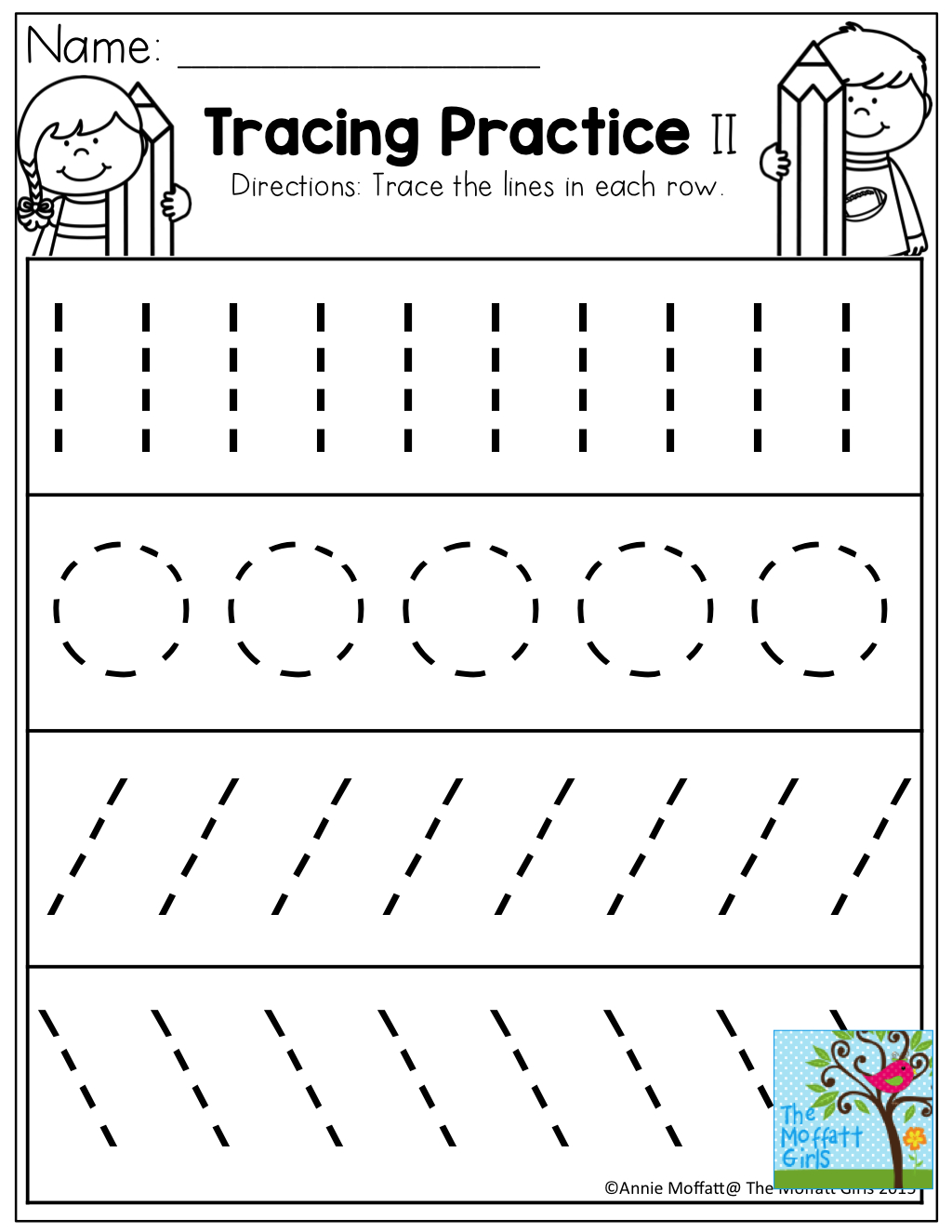 Tracing Practice! Tons Of Printable For Pre-K, Kindergarten, 1St | Tracing Lines Worksheets Printable