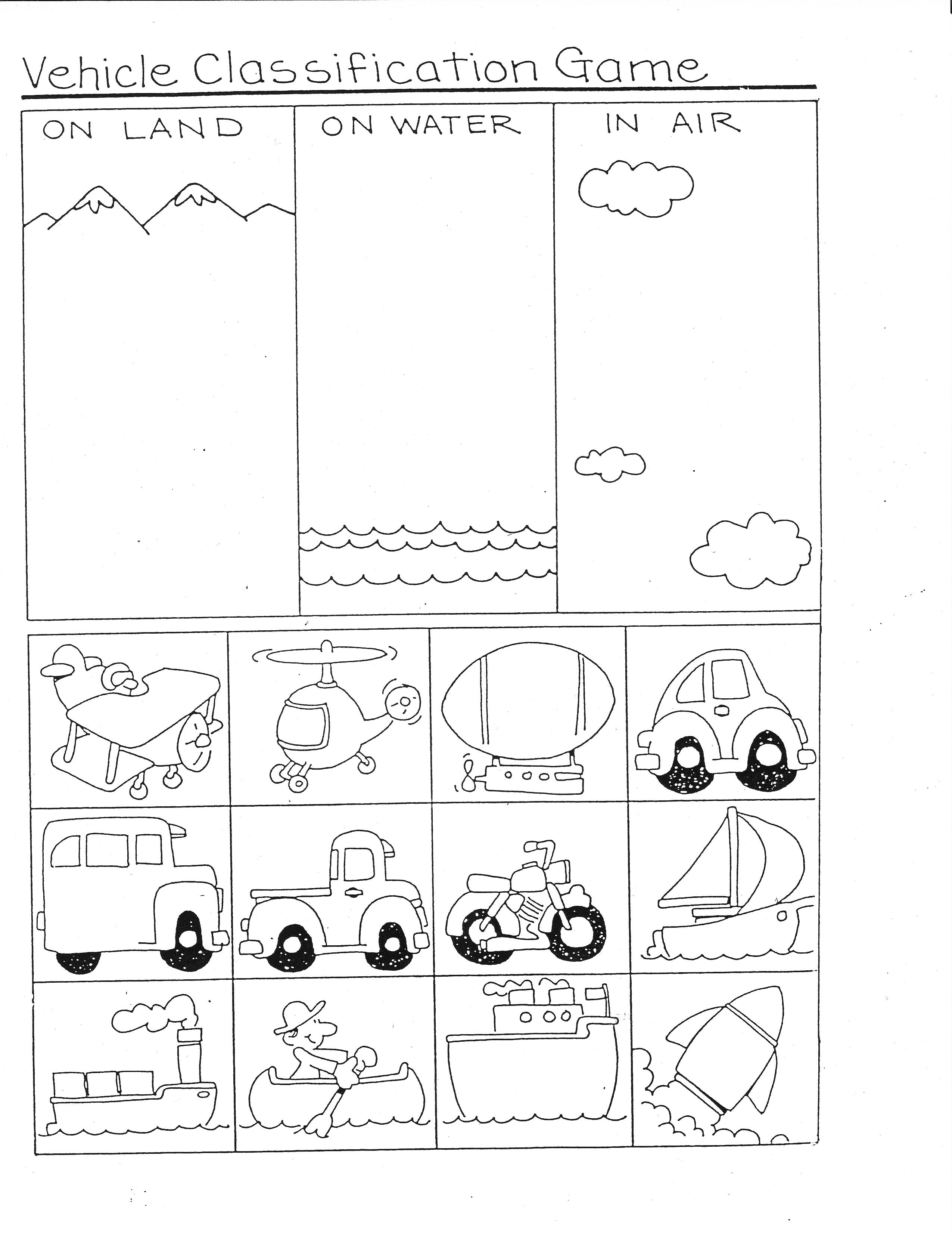 Transportation Ideas For Math | Ideas For School | Transportation | Free Printable Transportation Worksheets For Kids