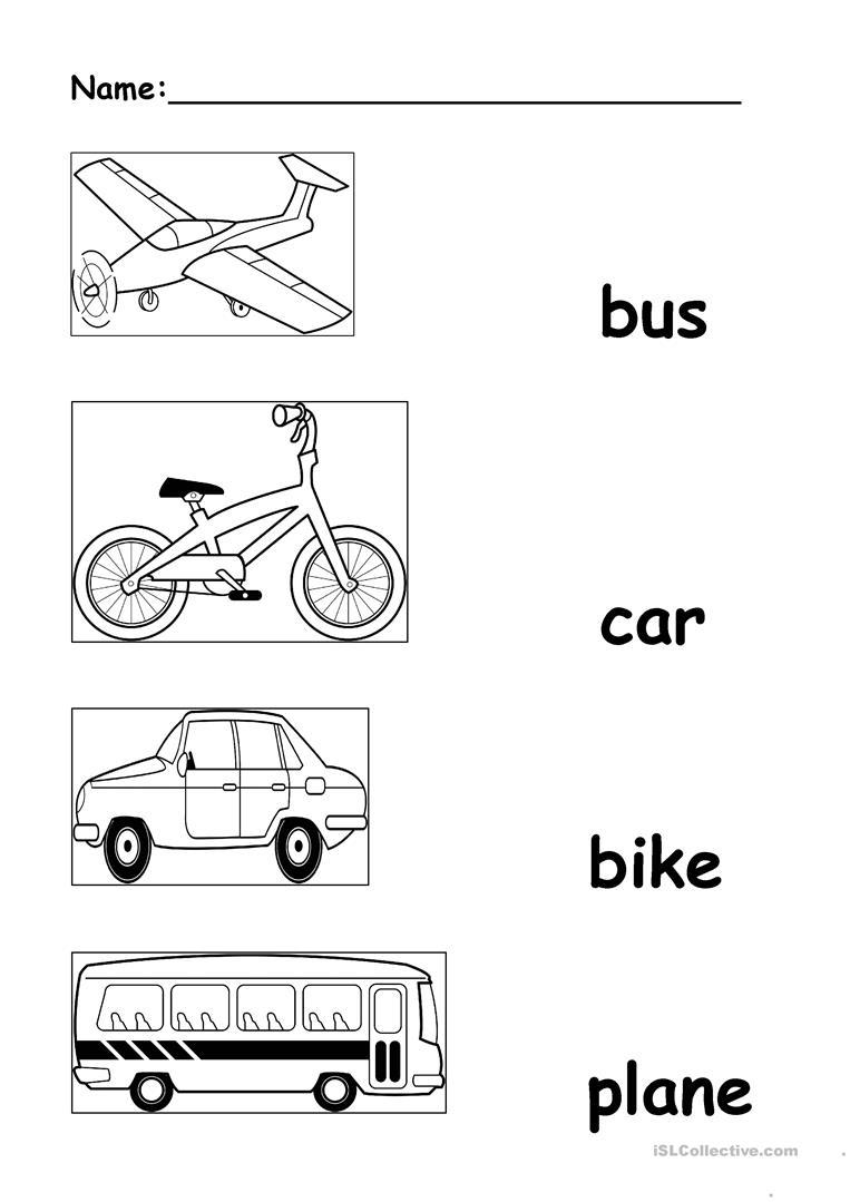 Transportation Worksheet - Free Esl Printable Worksheets Made | Free Printable Transportation Worksheets For Kids