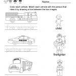 Transportation Worksheet   Free Kindergarten Learning Worksheet For | Free Printable Transportation Worksheets For Kids