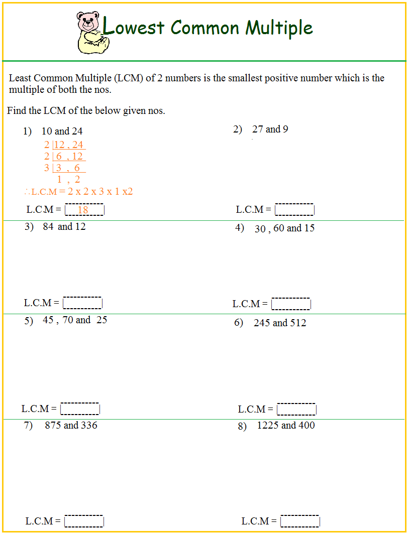 Uncategorized. Gcf And Lcm Worksheets. Waytoohuman Free Worksheets | Gcf And Lcm Worksheets Printable
