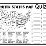 United States Map Quiz & Worksheet: Usa Map Test With Practice   Us States And Capitals Printable Worksheets