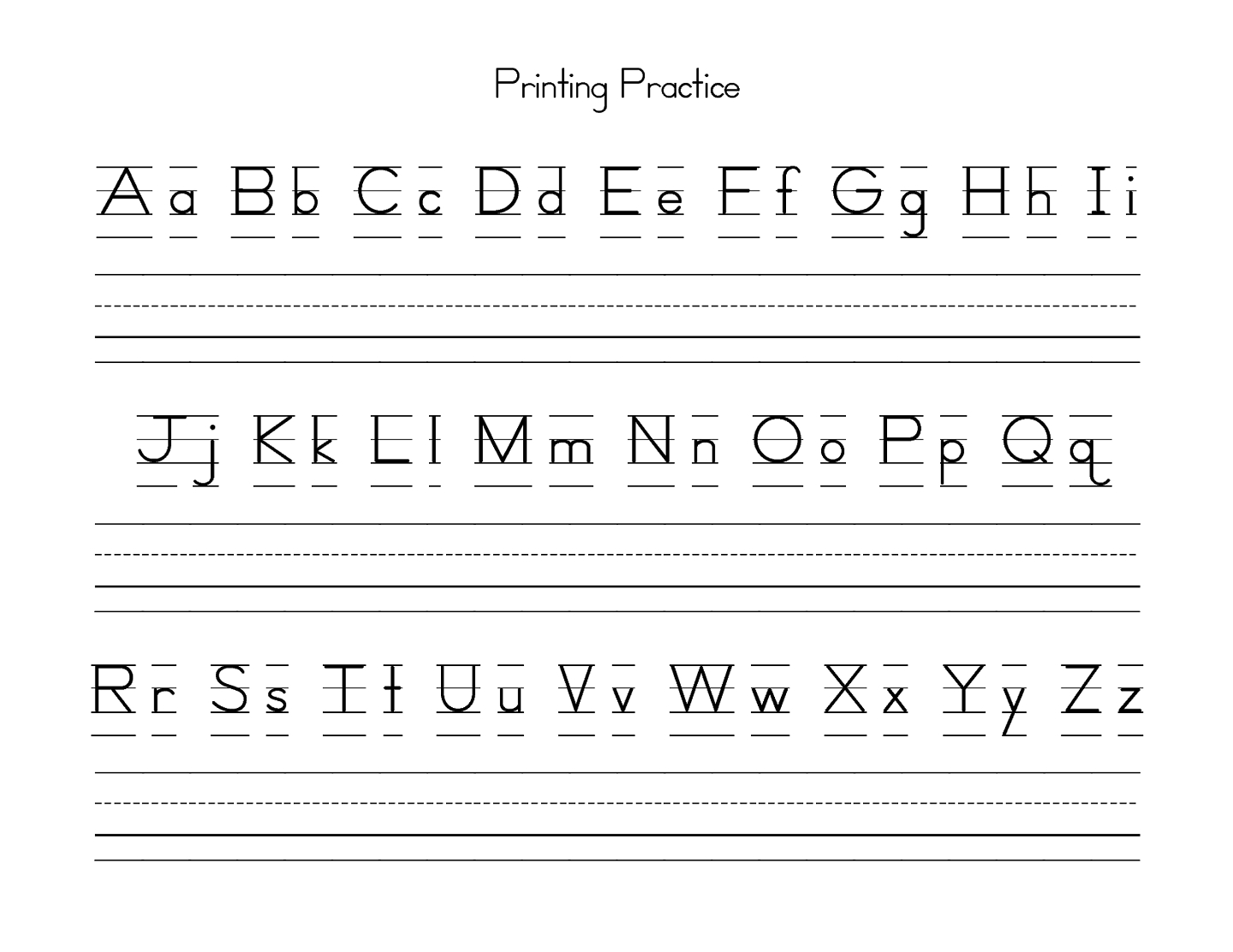 Uppercase And Lowercase Letters Learning | Kiddo Shelter | Free Printable Upper And Lowercase Letters Worksheets