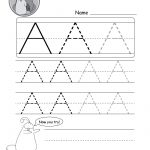 Uppercase Letter Tracing Worksheets (Free Printables) – Doozy Moo | Free Printable Write Your Name Worksheets