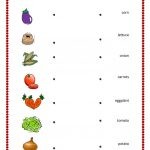 Vegetables And Fruits Match Worksheet   Free Esl Printable | Vegetables Worksheets Printables