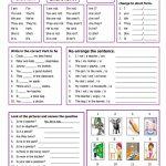 Verb To Be Worksheet   Free Esl Printable Worksheets Madeteachers | Esl Printable Grammar Worksheets
