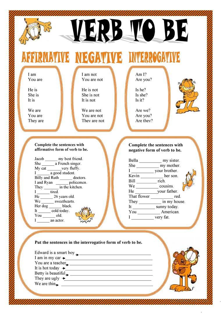 Verb To Be Worksheet - Free Esl Printable Worksheets Madeteachers   To Be Worksheets Printable