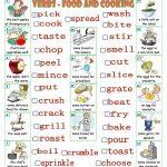 Verbs   Food And Cooking Worksheet   Free Esl Printable Worksheets | Cooking Verbs Printable Worksheets