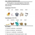 Vertebrate & Invertebrate Worksheet   Free Esl Printable Worksheets | Free Printable Worksheets On Vertebrates And Invertebrates