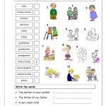 Vocabulary Matching Worksheet   Elementary 2.2 (Family) Worksheet | Family Printable Worksheets