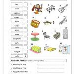 Vocabulary Matching Worksheet   Elementary 2.4 (Musical Instruments | Reading Music Worksheets Printable