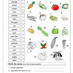Vocabulary Matching Worksheet   Vegetables Worksheet   Free Esl | Vegetables Worksheets Printables
