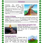 Volcanoes Worksheet   Free Esl Printable Worksheets Madeteachers | Printable Volcano Worksheets