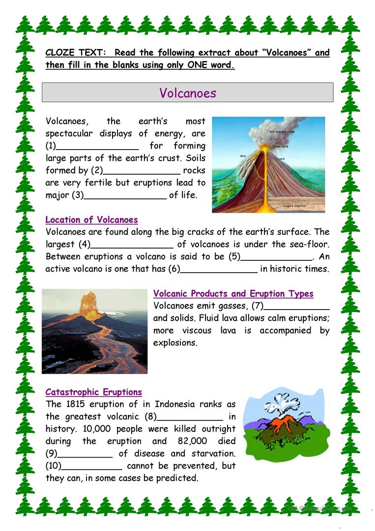 Volcanoes Worksheet - Free Esl Printable Worksheets Madeteachers | Printable Volcano Worksheets