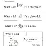 What Is It? What's Your Name? Trace And Copy Worksheet   Free Esl | Trace Your Name Worksheets Printables