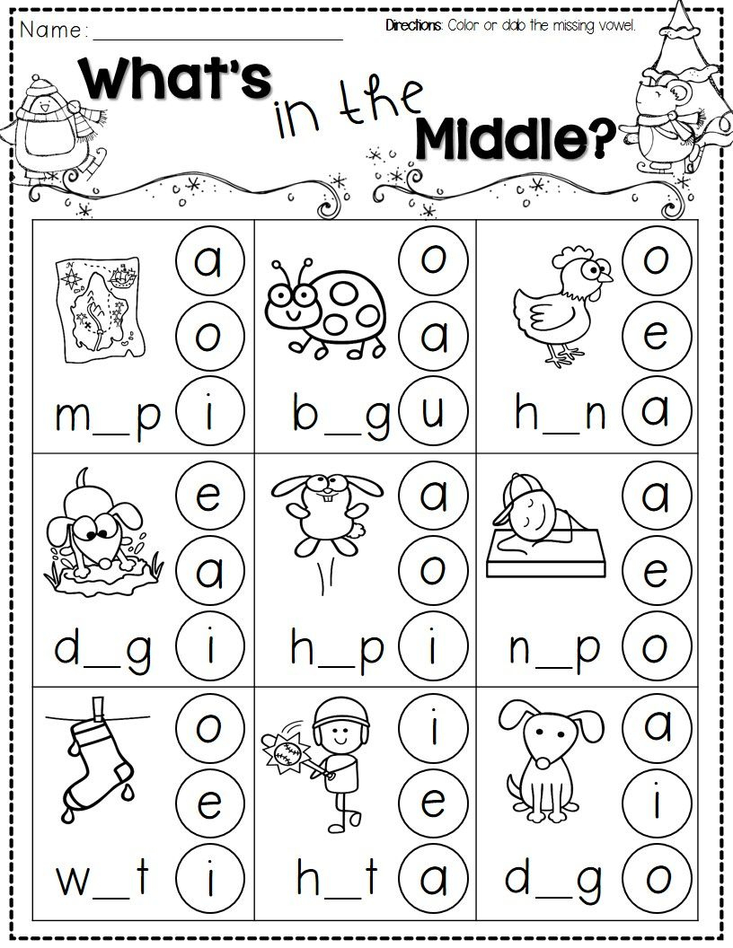 Winter Activities For Kindergarten Free | Kindergarten Literacy | Jolly Phonics Worksheets Free Printable