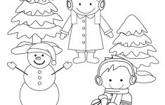 Winter Coloring Worksheet – Free Kindergarten Seasonal Worksheet For | Free Printable Winter Preschool Worksheets
