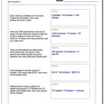 Word Problems | Math Problems Printable Worksheets