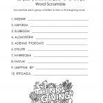 Word Scramble Worksheets Thanksgiving | K5 Worksheets | Christmas | Free Printable Word Scramble Worksheets