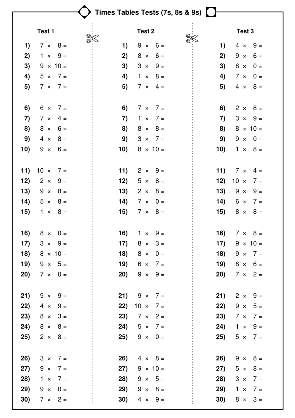 Worksheet 12 Times 7 Mytourvn Worksheet Study Site. Multiplication | Multiplication Tables 1 12 Printable Worksheets