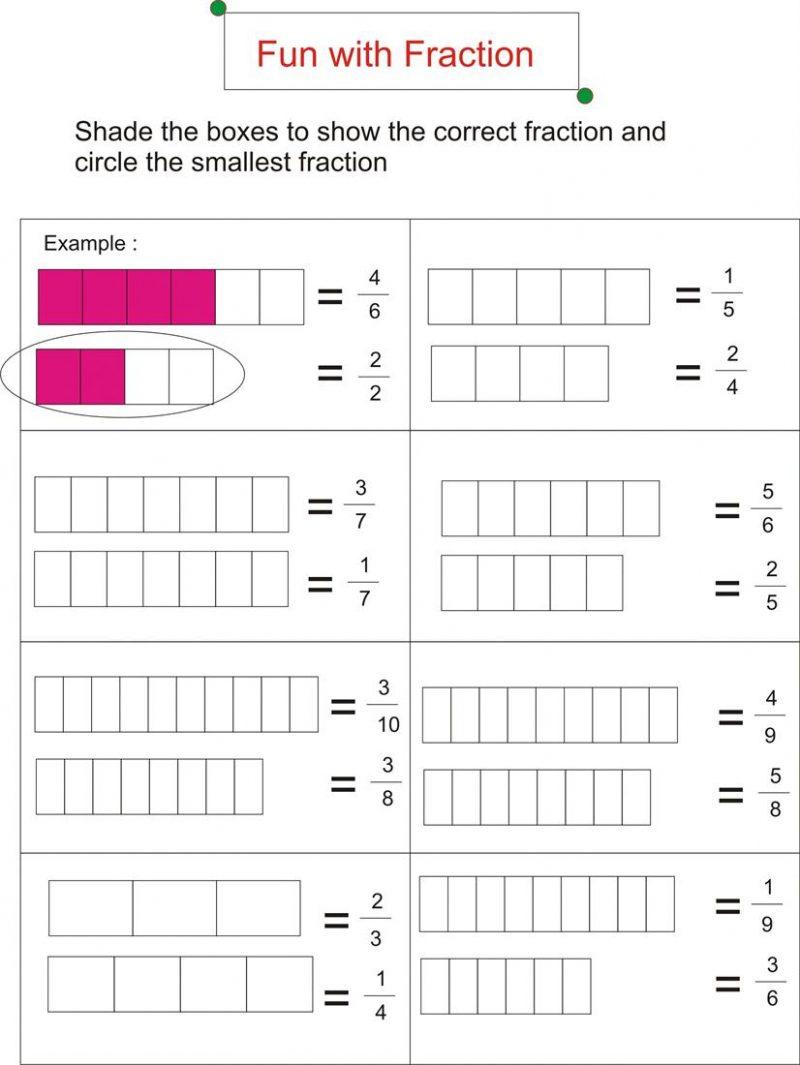 Worksheet First Grade Fraction Worksheets Fun For Photo Free - Free | Free Printable First Grade Fraction Worksheets