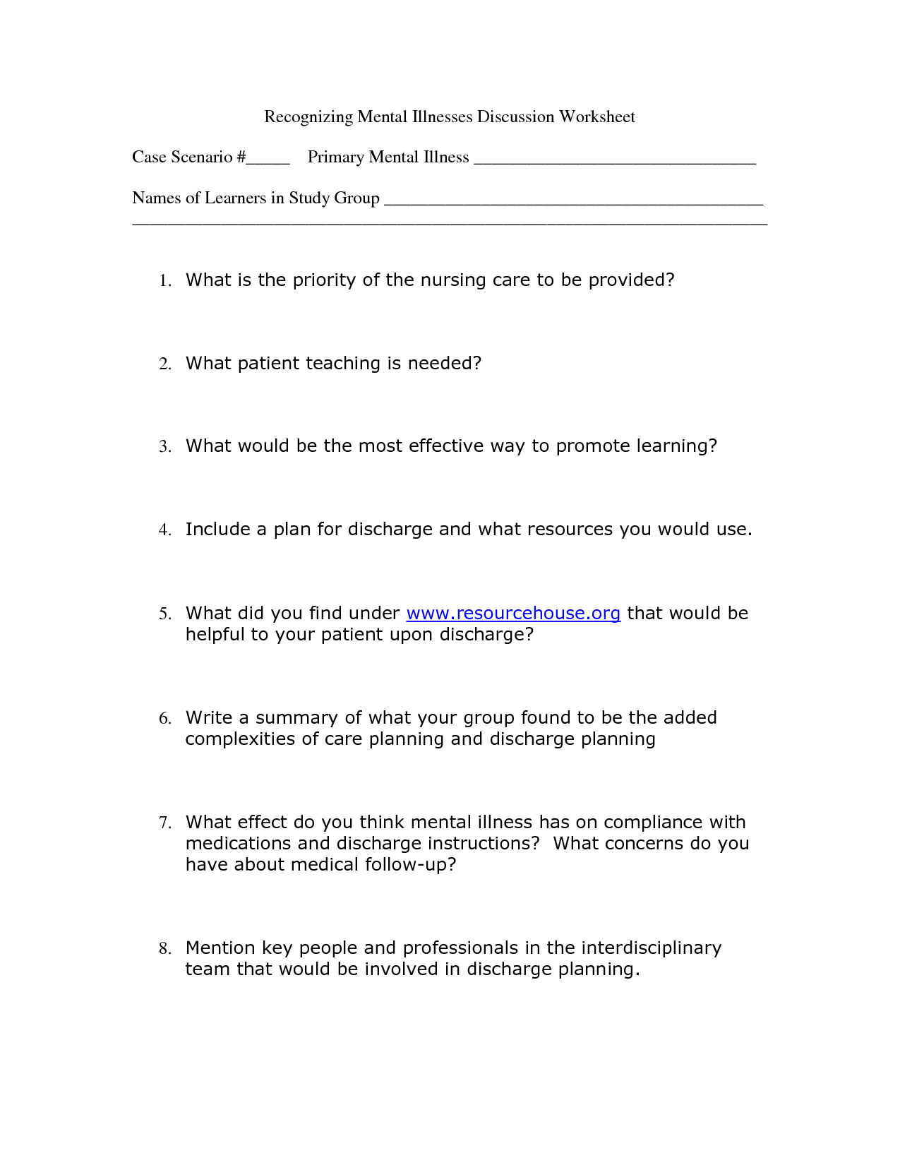 Worksheet : Free Mental Health Worksheets Davezan L For Kids | Printable Mental Health Worksheets For Adults