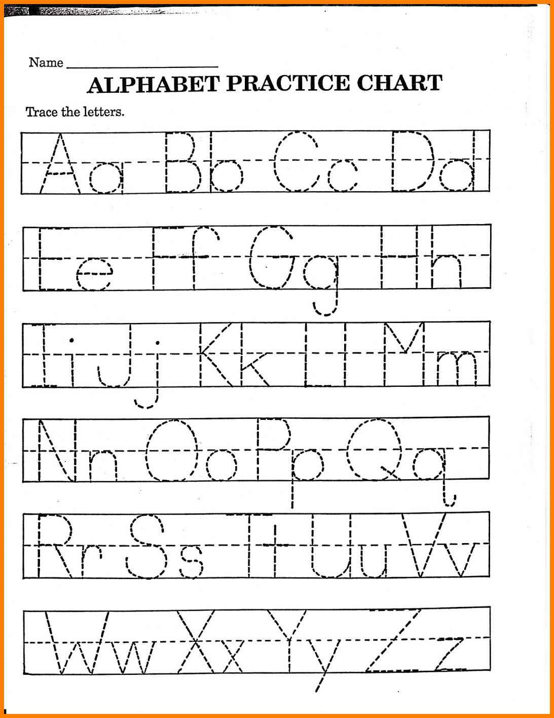 Worksheet : Kinder Worksheets Kindergarten Alphabet Practice Letter | Childrens Printable Alphabet Worksheets