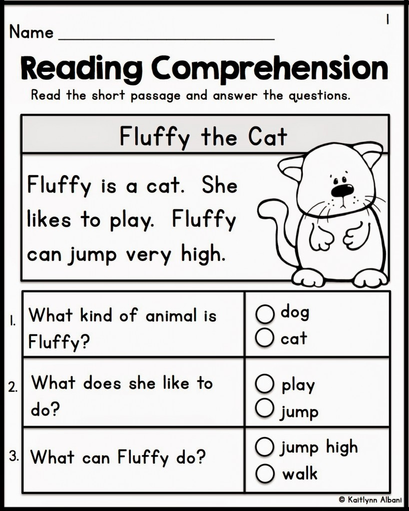 Worksheet : Kindergarten Reading Comprehension Worksheets Teacher | Free Printable English Reading Worksheets For Kindergarten