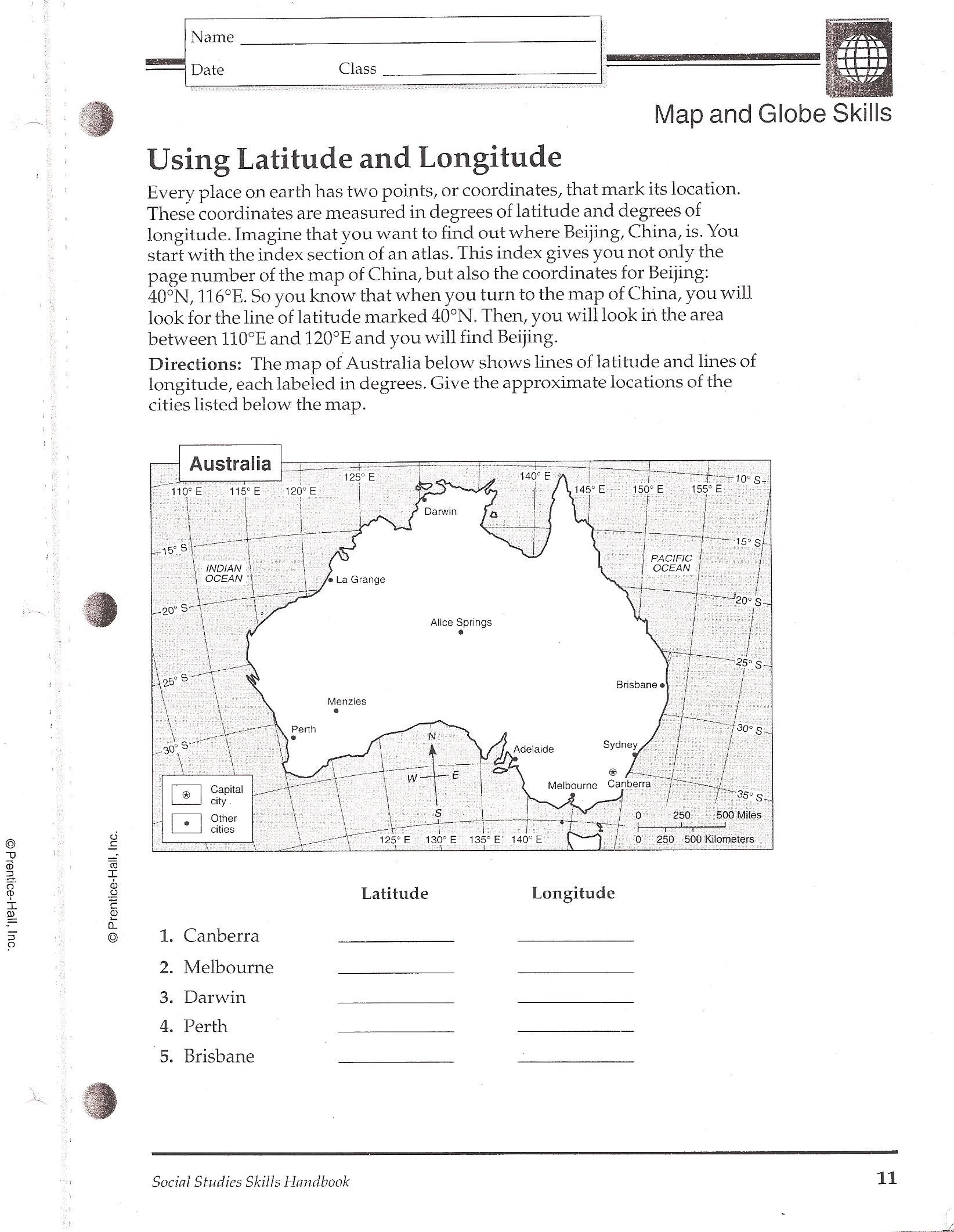 Worksheet : Latitude And Longitude Worksheets For Kids The Best | Latitude And Longitude Printable Practice Worksheets