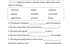 Printable English Worksheets For Middle School