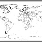 World Map Outline With Countries | World Map | World Map Outline | Free Printable World Map Worksheets