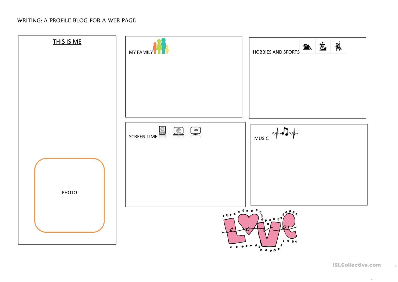 Writing A Blog Entry Worksheet - Free Esl Printable Worksheets Made | Blog Worksheet Printable