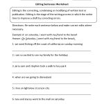 Writing Worksheets | Editing Worksheets   Free Printable Sentence | Free Printable Sentence Correction Worksheets