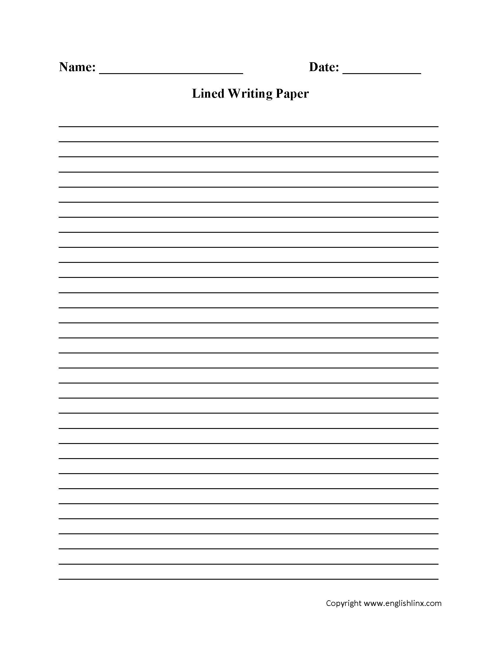Writing Worksheets   Lined Writing Paper Worksheets - Free Printable   Printable Writing Worksheets