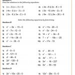 Year 10 Maths Worksheets | Printable Pdf Worksheets | Printable Algebra Worksheets High School